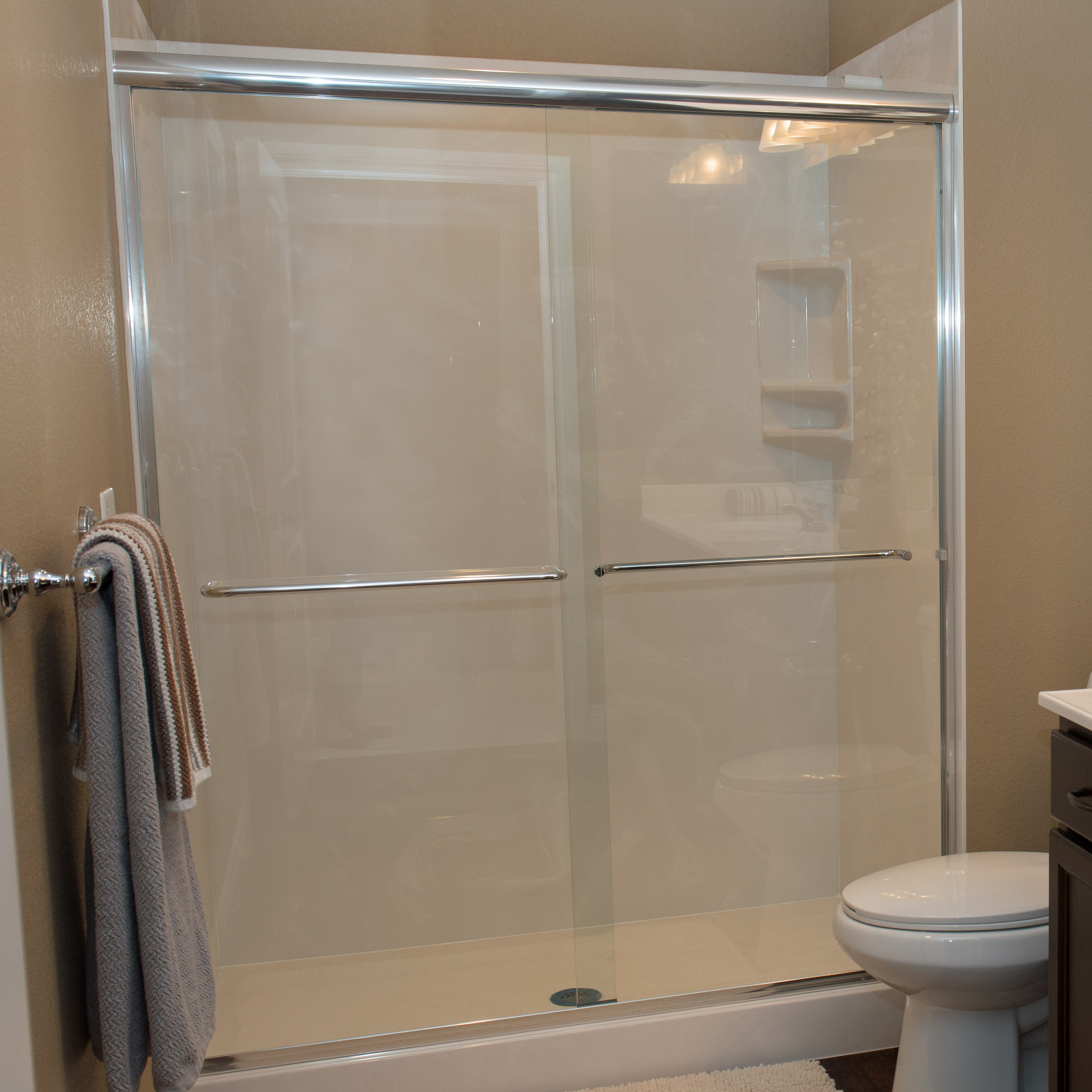 White River Bath Bull Shoals 58 X 65 Bypass Shower Slider Wayfair