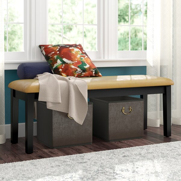 Upholstered Bench by Andover Mills Andover Mills
