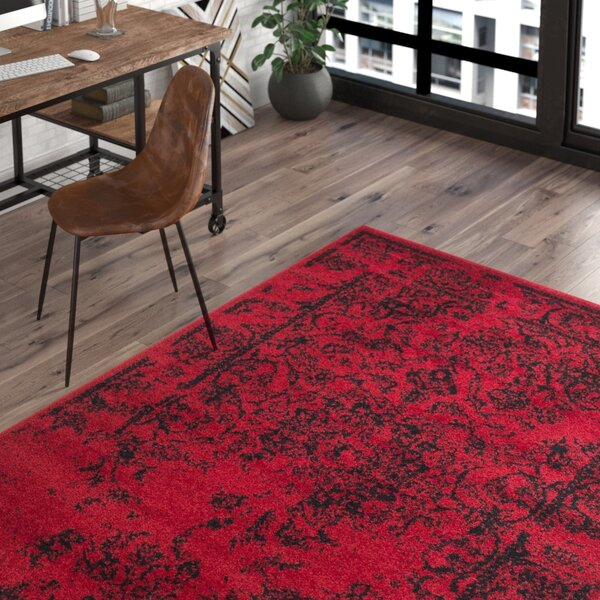 Costa Mesa Red/Black Area Rug by Trent Austin Design
