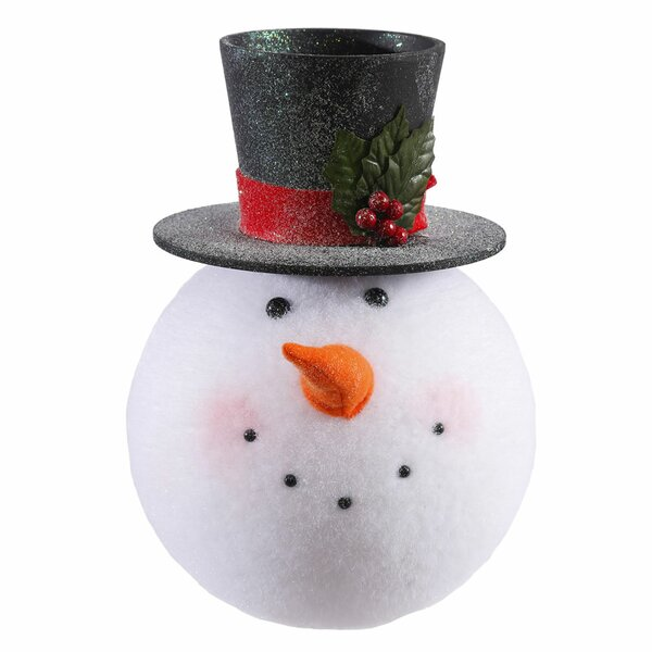 Snowman Head Christmas Hanging Figurine by The Holiday Aisle