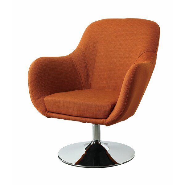 Lounge Chair in Orange by Wildon Home ®