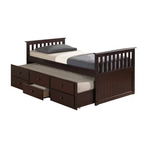 marco island bed with trundle bed and drawers - Captain Bed