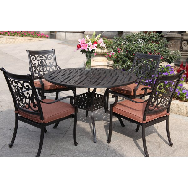 Mccraney Traditional 5 Piece Dining Set with Cushions by Astoria Grand