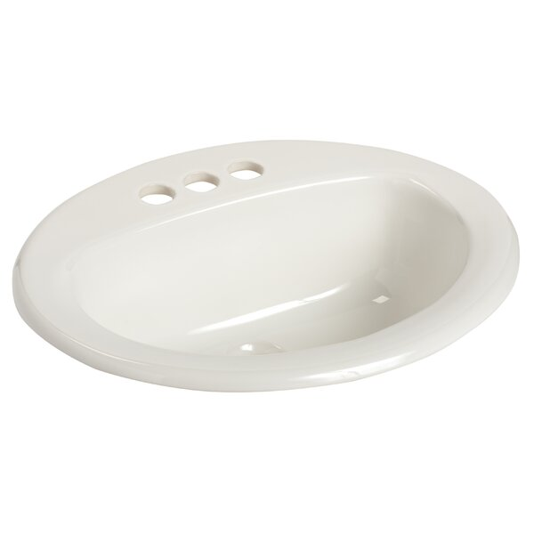 MS Vitreous China Oval Drop-In Bathroom Sink with
