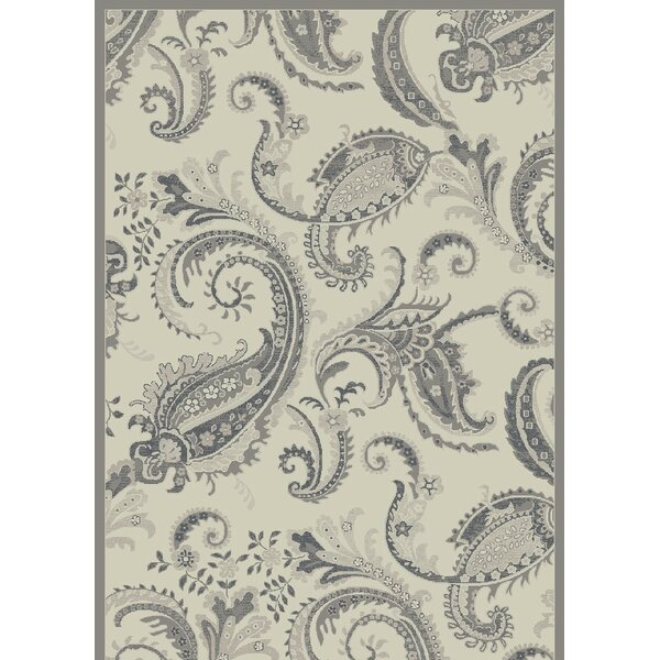 Knudtson Paisley Cream Area Rug by Andover Mills