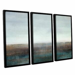 Landscape Ground Fog 3 Piece Framed Graphic Art Set by Latitude Run