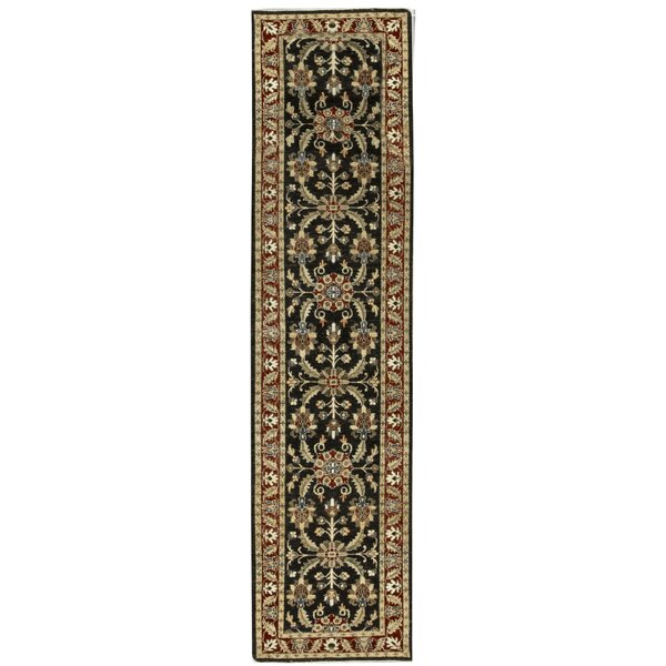 One-of-a-Kind Sultanabad Handwoven Runner 2'8 x 10'9 Wool Black/Red Area Rug