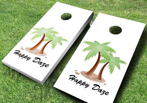 Personalized Palm Tree Cornhole Set by AJJ Cornhole