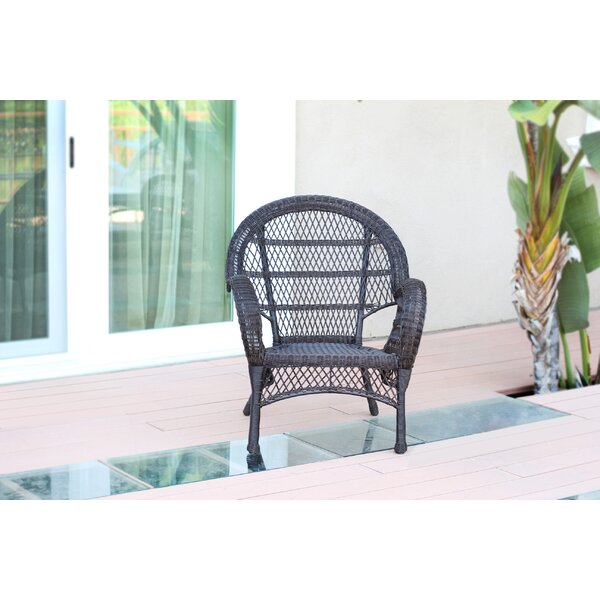 Wicker Armchair Chair (Set of 4) by Jeco Inc.