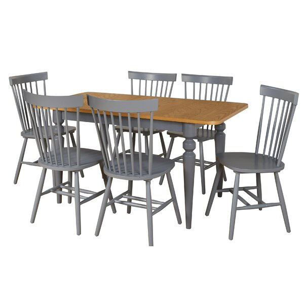 Laurier 7 Piece Solid Wood Dining Set By Gracie Oaks New