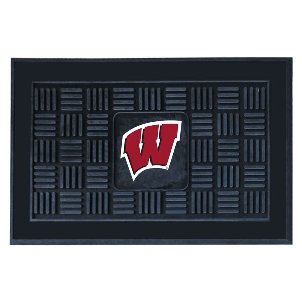 NCAA University of Wisconsin Medallion Door Mat by FANMATS