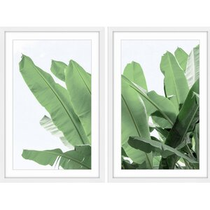 'Palm Bay Diptych' Framed Painting Print by Marmont Hill