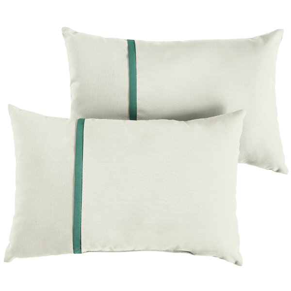 Fludd Indoor/Outdoor Sunbrella Lumbar Pillow (Set of 2) by Charlton Home
