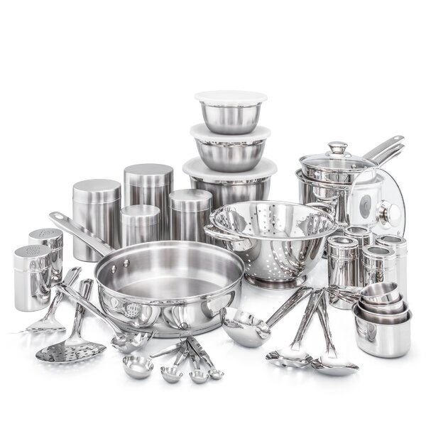 36 Piece Kitchen in a Box Stainless Steel Cookware