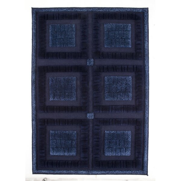 Bergamo Hand-Knotted Blue Area Rug by M.A. Trading
