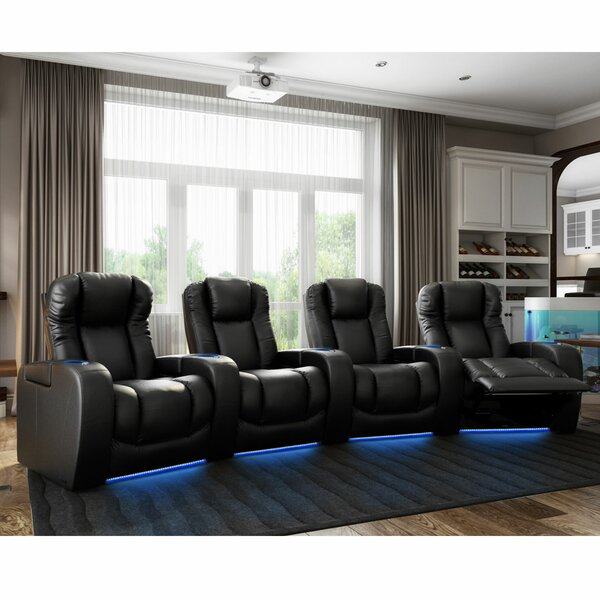 Home & Garden Grand HR Series Curved Home Theater Row Seating (Row Of 4)