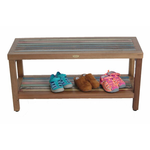 Ship2Shape Reclaimed Salvaged Rustic Recycled Boat Bench with Shelf by EcoDecors