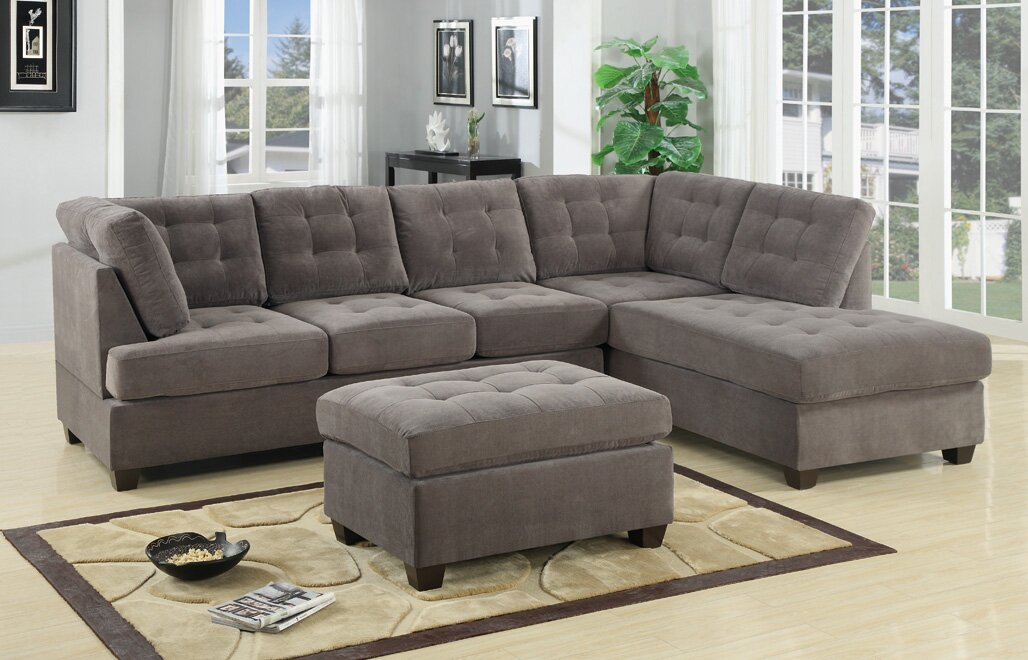 Chaise Sofa Sectional Sofas You ll Love