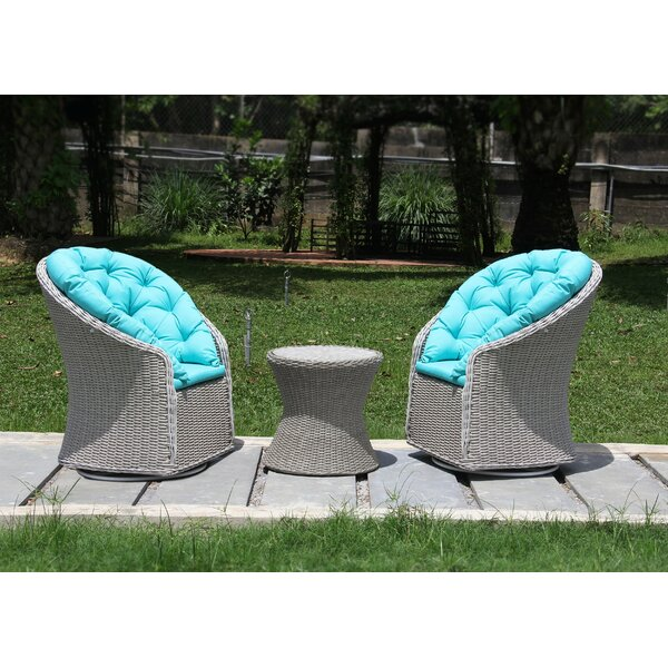 Hobart 3 Piece Seating Group with Cushions by Highland Dunes