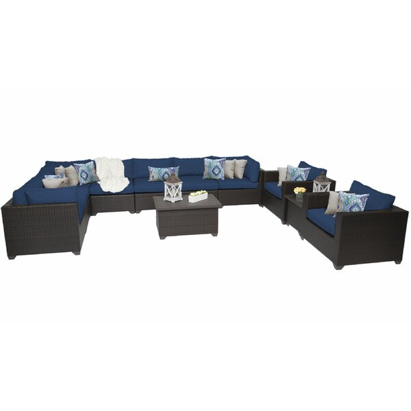 Fernando 11 Piece Sectional Seating Group with Cushions by Sol 72 Outdoor