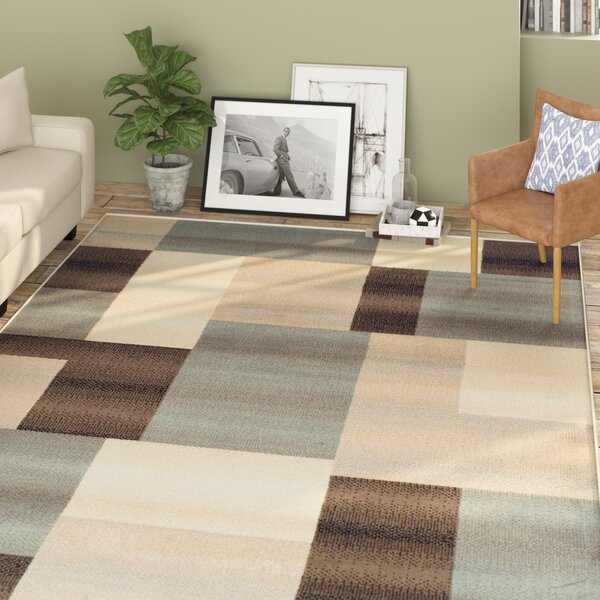 Svetlana Light Blue/Brown Area Rug by Williston Forge