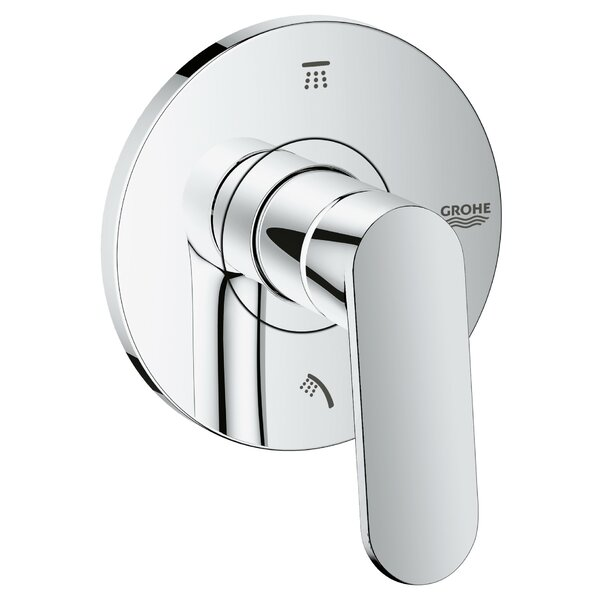 Eurosmart Cosmopolitan 3-Port Diverter Shower Faucet Trim with Lever Handle by Grohe