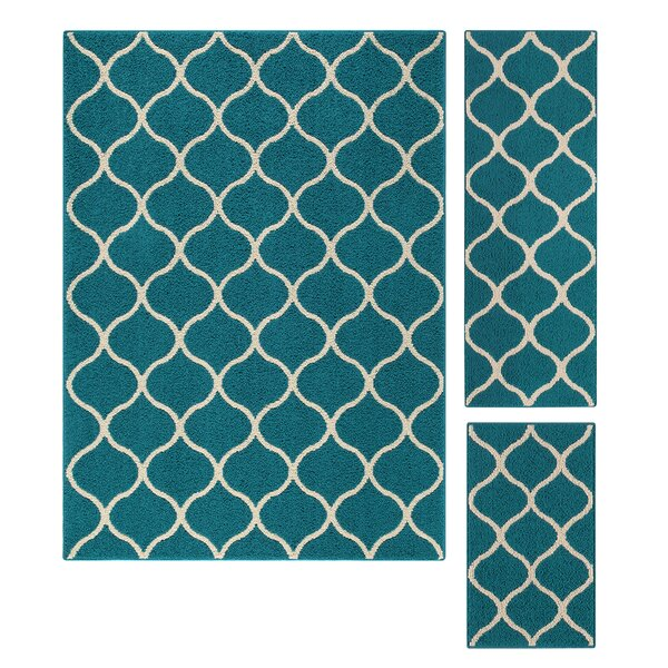 Hershman Teal Indoor Area Rug by Charlton Home