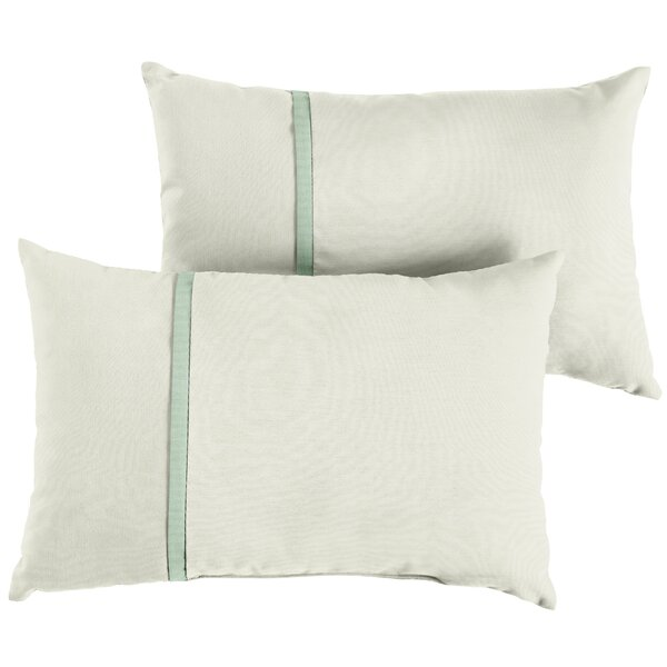Fleckenstein Indoor/Outdoor Sunbrella Lumbar Pillow (Set of 2) by Charlton Home