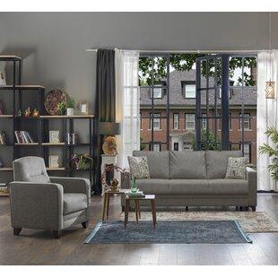 Bordt 2 Piece Sleeper Living Room Set by Latitude Run®