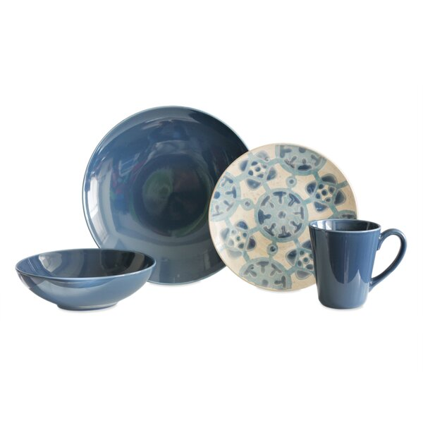 Medallion 16 Piece Dinnerware Set, Service for 4 by Baum
