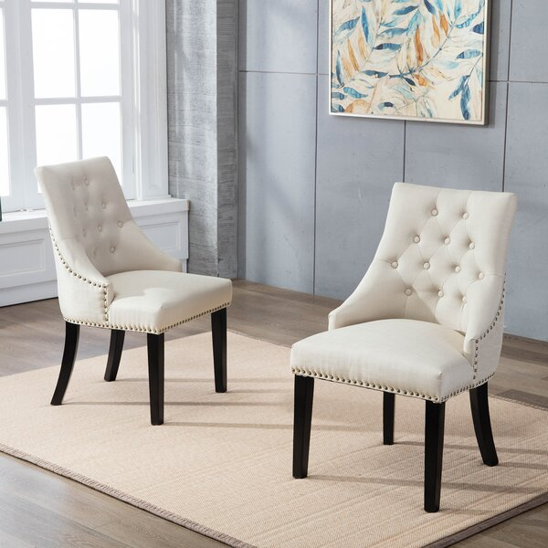 Hopkint Upholstered Dining Chair (Set of 2) by Gracie Oaks Gracie Oaks