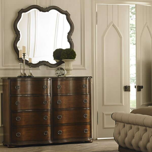 Elwood 8 Drawer Double Dresser with Mirror by Darby Home Co