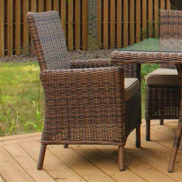 Soules Patio Dining Chair with Cushion by Bay Isle Home