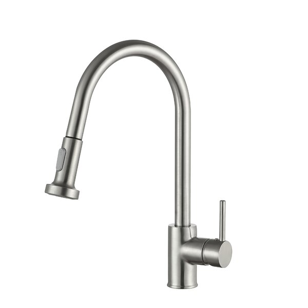 Tycho Series Pull Out Single Handle Kitchen Faucet by ANZZI