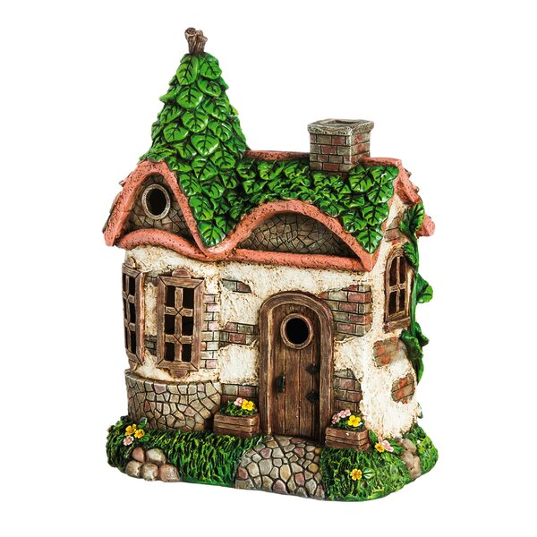 Elian English Cottage Lighted Fairy House Figurine by Bloomsbury Market