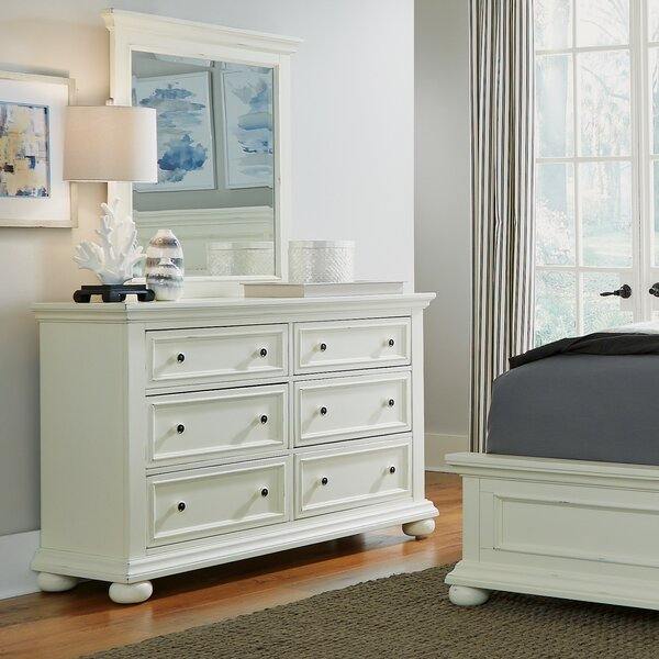 Rochford 6 Drawer Double Dresser with Mirror by Three Posts