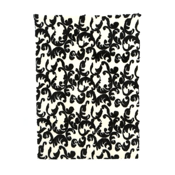 Modern Black/White Area Rug by Walk On Me