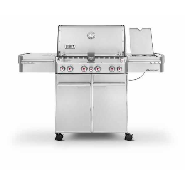 Summit S-470 4-Burner Propane Gas Grill with Smoker by Weber