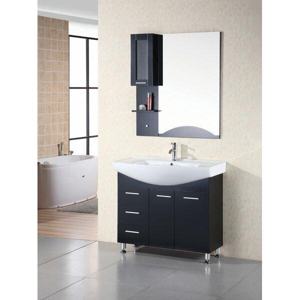 Dublin 40 Single Bathroom Vanity Set with Mirror by dCOR design
