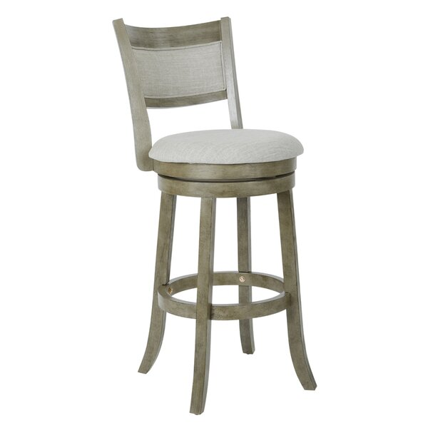 Beechwood 30.5 Swivel Bar Stool by Gracie Oaks