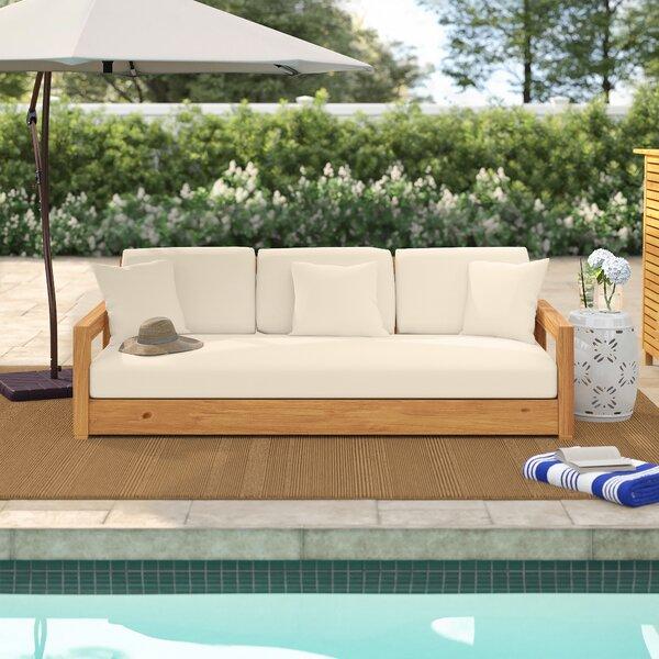OKean Teak Patio Sofa with Cushions by Greyleigh