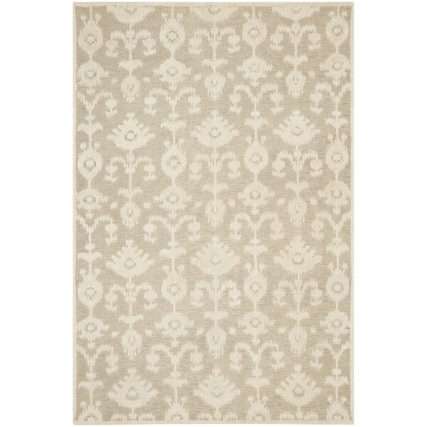 Benningfield Tibetan Hand Knotted Beige Area Rug by Foundry Select