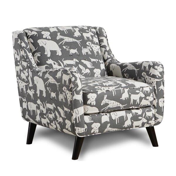 Biseye Doggie Graphite Armchair by Brayden Studio
