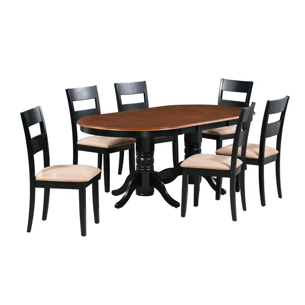 Santino 7 Piece Extendable Solid Wood Dining Set by Alcott Hill