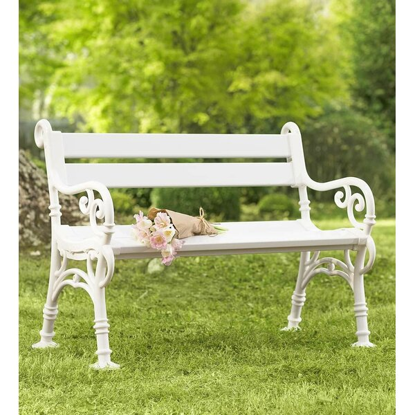 Weatherproof with Scroll Arms PVC Garden Bench by Plow & Hearth Plow & Hearth