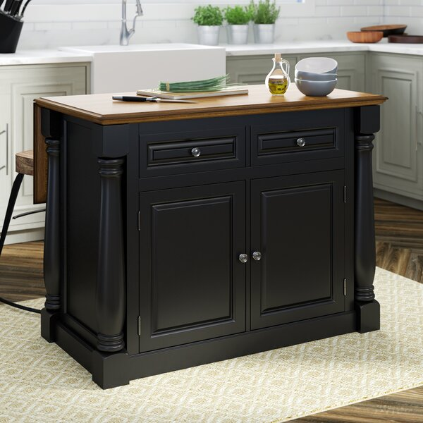Gironde Traditional Kitchen Island Wood by Laurel Foundry Modern Farmhouse
