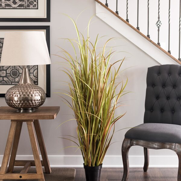 Artificial Grass in Pot by Beachcrest Home