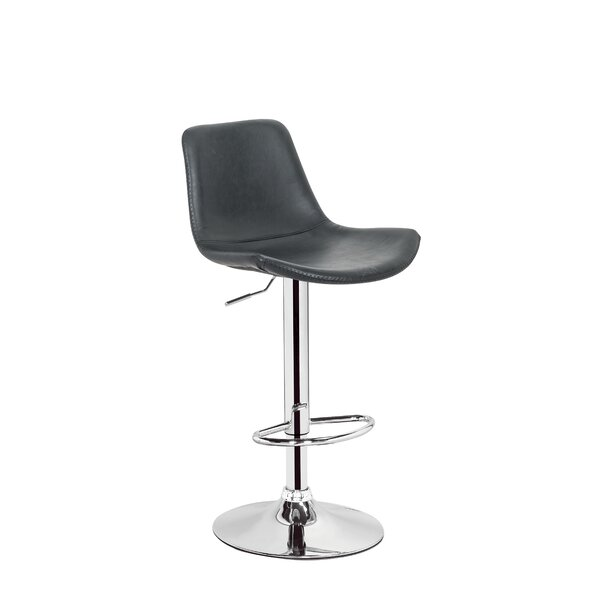 Stamm Unique Hydraulic Adjustable Height Swivel Bar Stool by Orren Ellis