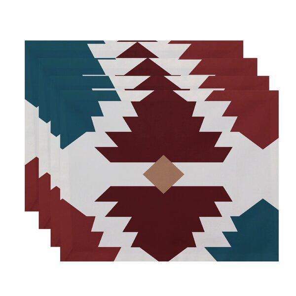 Bowyer Mesa Geometric Print Placemat by Mercury Row