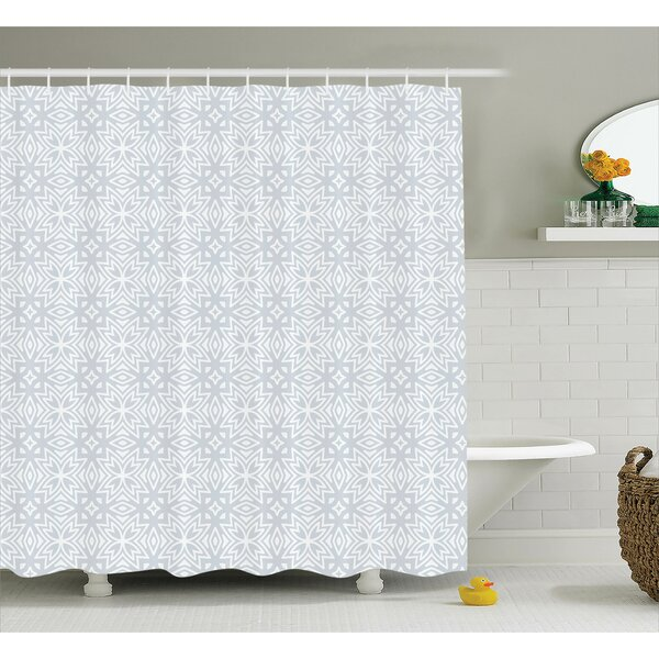 Bowker Authentic Figures With Floral Geometric Properties Artistic Old Shower Curtain by Ebern Designs